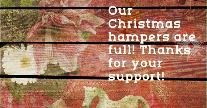 Christmas Hampers: Thank you! image