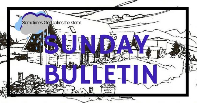 Bulletin - January 21, 2018 image