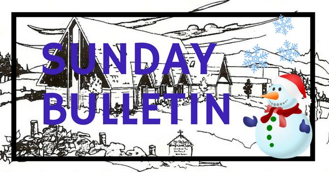 Bulletin - January 7, 2018 image