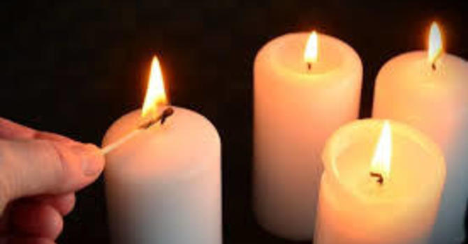 Time for children to light the Fourth Wreath Candle, listen to the next story and Wonder image