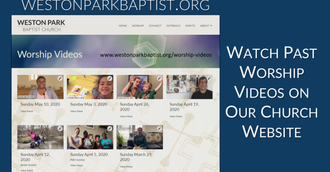 Past Worship Services image