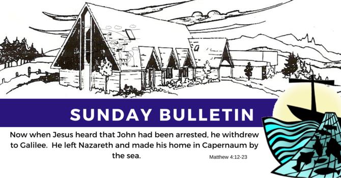Bulletin - Sunday, January 26, 2020 image