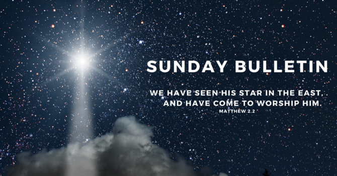 Bulletin - Sunday, January 5, 2020 image
