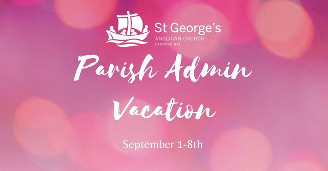 Parish Admin on Vacation image