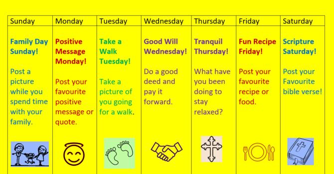 Spirit Week!  June 28 to July 4, 2020 image