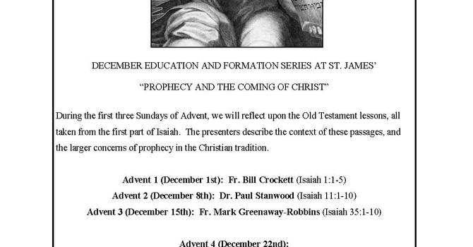 Advent Foundation Sessions at St. James' image