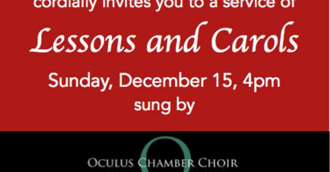 Carols and Lessons for Christmas at St. James' image