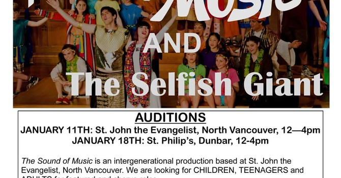 The Sound of Music & The Selfish Giant Auditions image