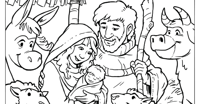 Coloring page for Christmas  image