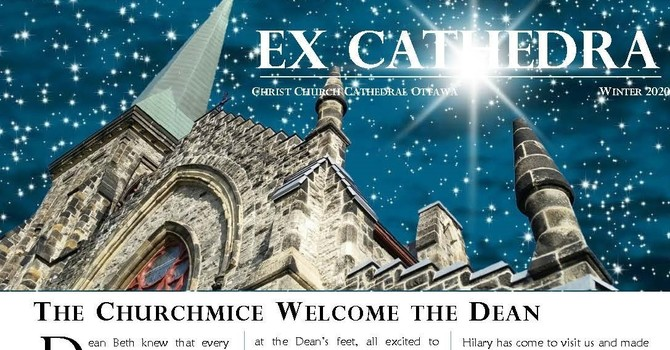 Christmas edition of ExCathedra - available in full colour online image