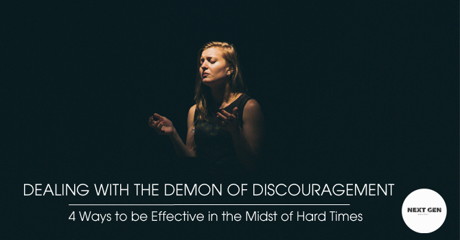 Dealing With The Demon Of Discouragement image