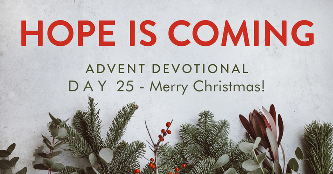 Day 25- Hope is Here! Merry Christmas image