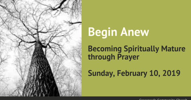 Becoming Spiritually Mature through Prayer