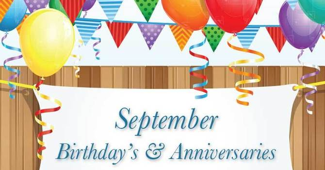 Look who is celebrating Sept. 6 - 12, 2020! image