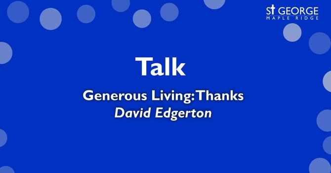 Generous Living: Thanks image
