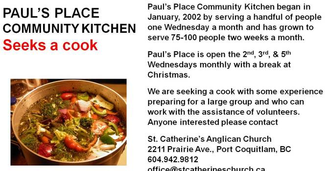 Paul's Place Community Kitchen at St. Catherine's, Port Coquitlam image