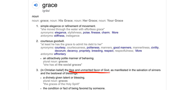 Living in Unmerited Grace