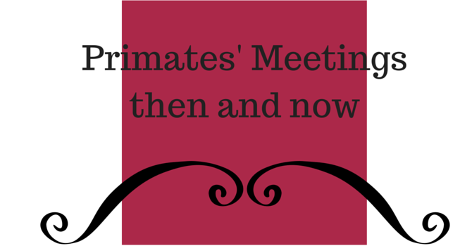 Primates' Meetings then and now. image