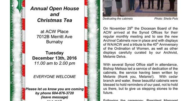 December 2016 ACW Newsletter News 'n' Views image