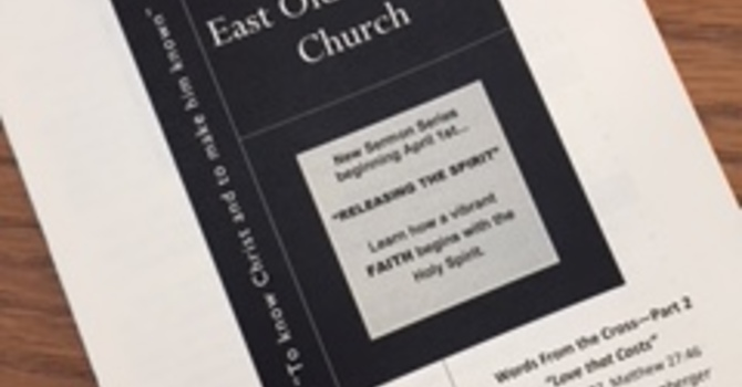 March 18, 2018 Church Bulletin image