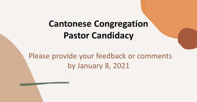 Cantonese Congregation Pastor Candidacy image