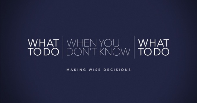 What To Do When You Don't Know What To Do Week 1