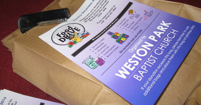 Delivering Bags this week for WPBC's Annual Food Drive! image