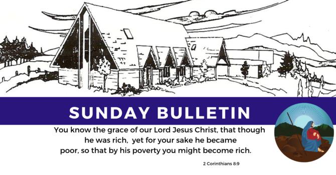Bulletin - Sunday, September 22, 2019 image