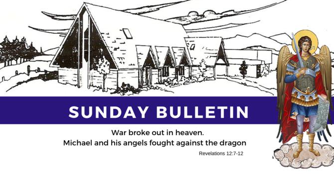 Bulletin - Sunday, September 29,  2019 image