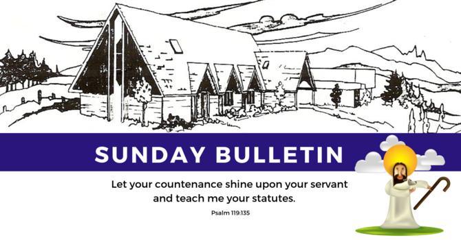 Bulletin - Sunday, September 8, 2019 image