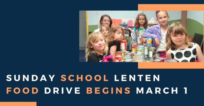 Sunday School Lenten Food Drive image
