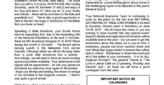 ACW Newsletter for June 2016 image
