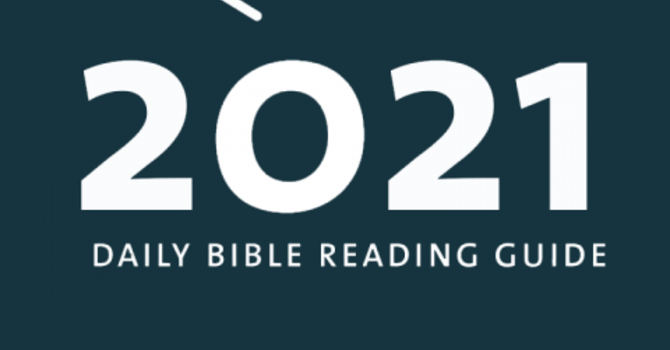 2021 New Testament Reading plan image