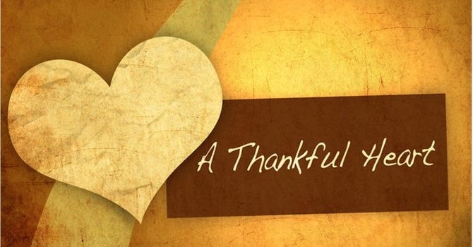 A Sunday for Thankfulness