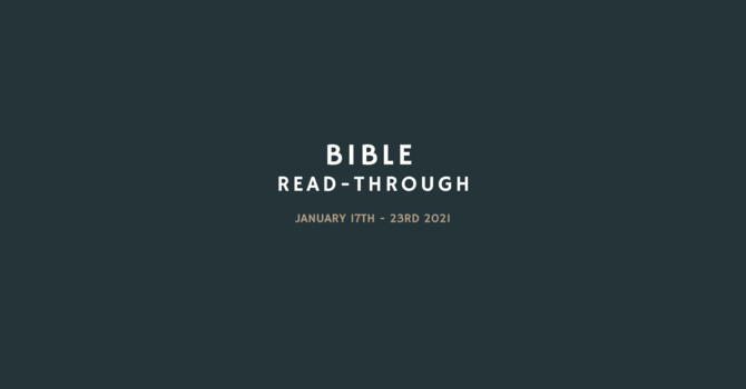 Bible Read Through