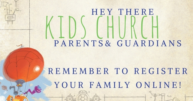 Online Kids Church registration now open image