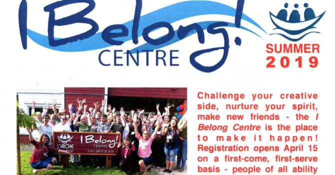 L'Arche Comox Valley I Belong Centre News Activity Guide image