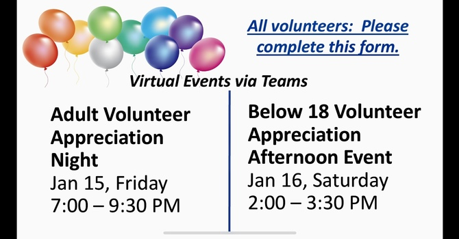 2021 Volunteer Appreciation Virtual Events image