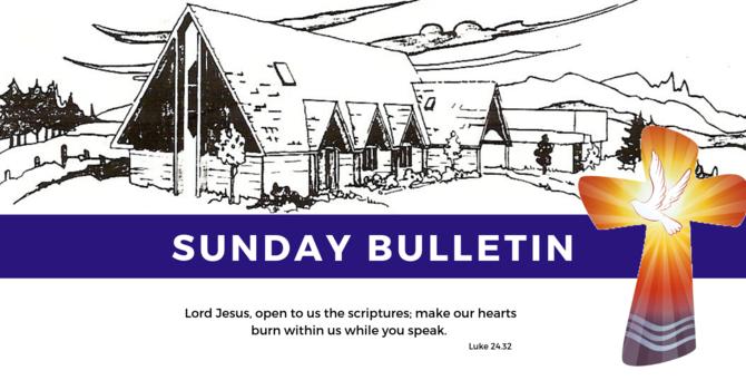 Bulletin - Sunday, May 5, 2019
