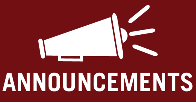 Announcements - January 9, 2021 image