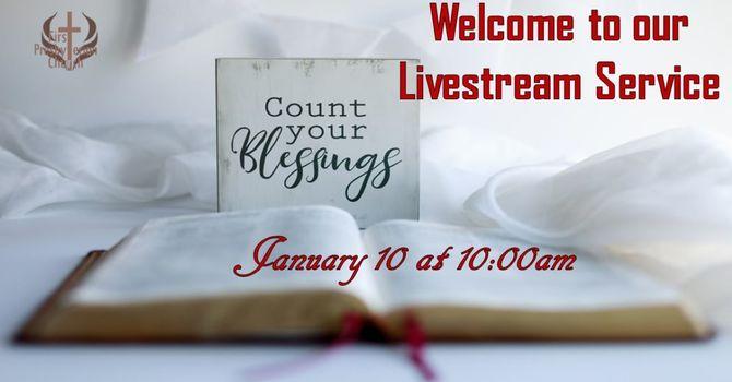 Sunday January 10 Livestream service