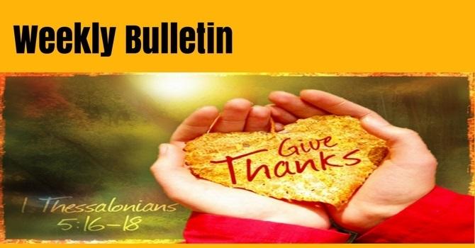 Bulletin | October 21, 2018 image