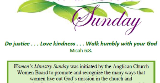 Women's Ministry Sunday