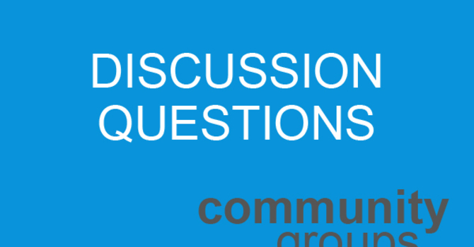Discussion Questions: January 11 image