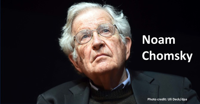 John Albert Hall lecture: Noam Chomsky
