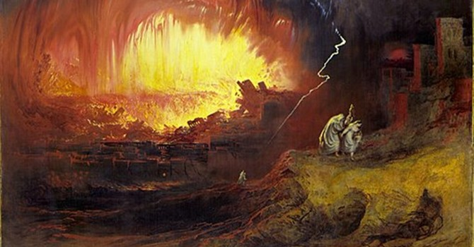 Lot's Escape from Sodom image
