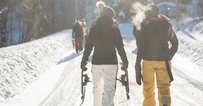 Ladies Snowshoeing