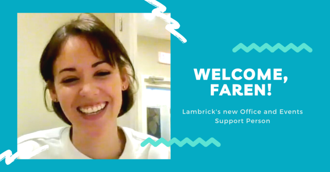 Welcome to our new staff team member, Faren!