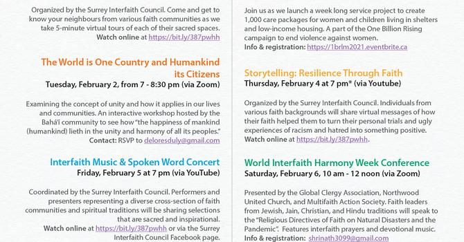 UN World Interfaith Harmony Week image