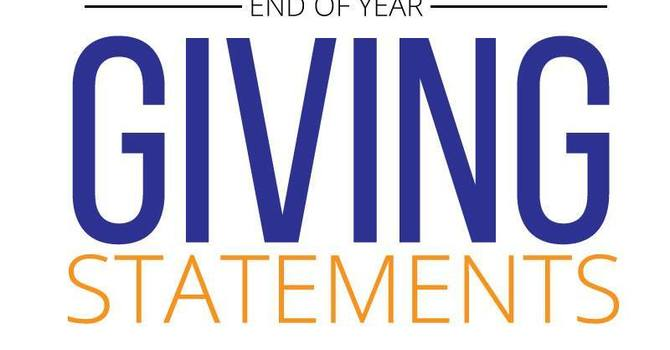 End of Year Giving Statements image